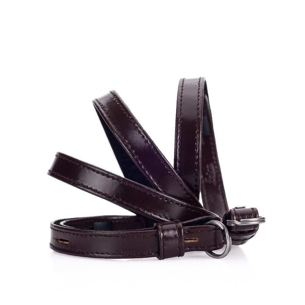 Leather strap, box calf dark brown