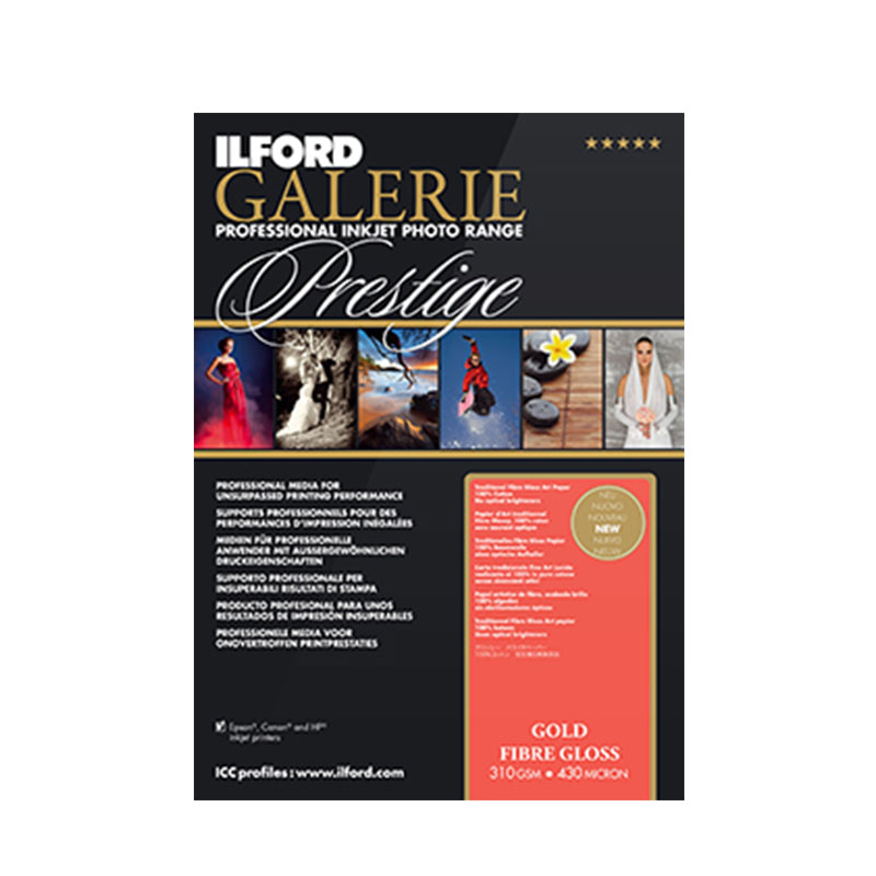 Ilford Galerie Gold Fibre Gloss 310gsm A2 25pack