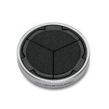 19529 - Auto lens cap, silver/black