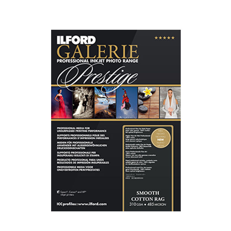 Ilford Galerie Smooth Cotton Rag 310gsm A3+ 25pack