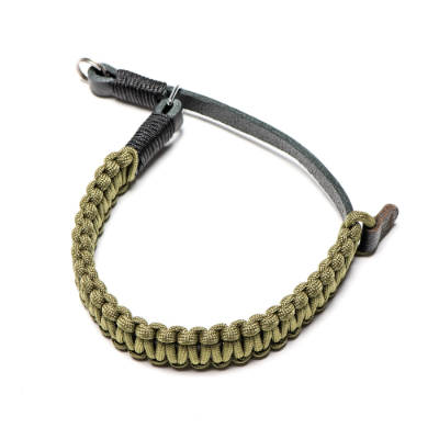 Paracord Handstrap, black/olive with O-Ring